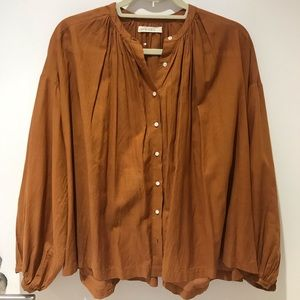 Doen Jane blouse in Fawn color, size Small.